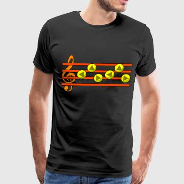 Ocarina Time Zelda's Lullaby Ocarina Song - Men's Premium T-Shirt