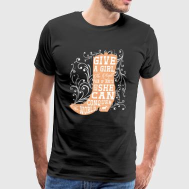 Give a Girl the Right Pair of Boots Graphic Tshirt - Men's Premium T-Shirt