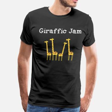 Funny Animal Giraffic Jam Safari T Shirt - Men's Premium T-Shirt