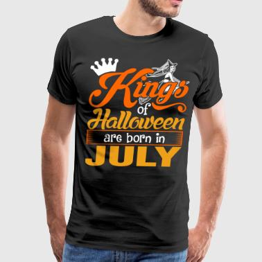 Kings of Halloween are Born in July - Men's Premium T-Shirt