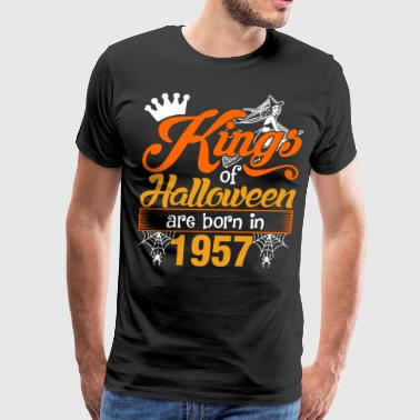 Kings of Halloween are Born in 1957 - Men's Premium T-Shirt