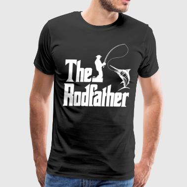 Rodfather Fish Fisherman Fishing Pike Bass Rod - Men's Premium T-Shirt