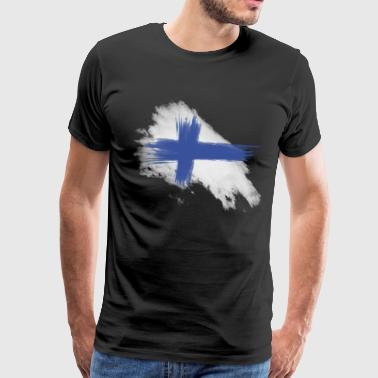 finland flag - Men's Premium T-Shirt