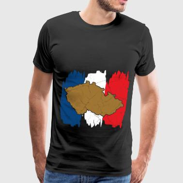Card Czech Republic gift Prague Czech - Men's Premium T-Shirt