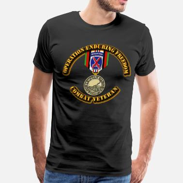 Operation Enduring Freedom Operation Enduring Freedom - 10th Mountain Divisio - Men's Premium T-Shirt