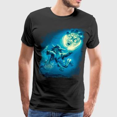 Werewolf Werewolf Hoops Basketball - Men's Premium T-Shirt