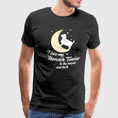Animal Love Cute Norwich Terrier Dog Owner Love Moon Gift - Men's Premium T-Shirt