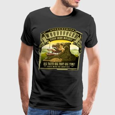 Appalachian Woodbooger Clear Corn Whiskey - Men's Premium T-Shirt