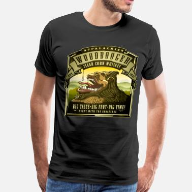 Morning Appalachian Woodbooger Clear Corn Whiskey - Men's Premium T-Shirt