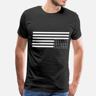 Down Upside Down US Flag - Men's Premium T-Shirt