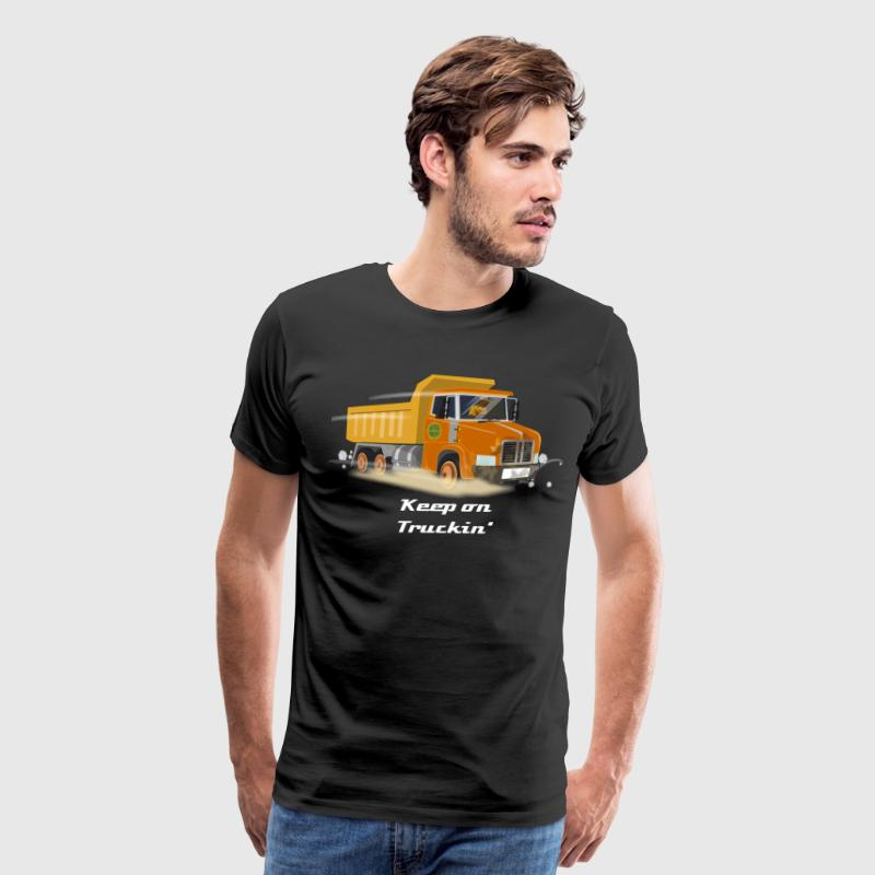 Orange Dump-truck - Men's Premium T-Shirt