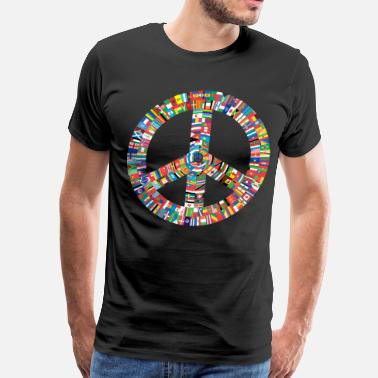 Hippie Peace to All Nations - Men's Premium T-Shirt