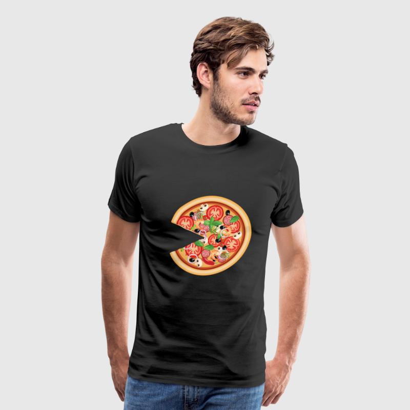 Pizza with Missing Slice Matching Couples T-shirt - Men's Premium T-Shirt