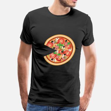 Miss Couple Pizza with Missing Slice Matching Couples T-shirt - Men's Premium T-Shirt