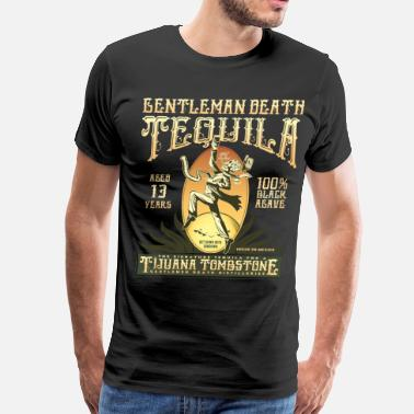 Tequila Worm Gentleman Death Tequila - Men's Premium T-Shirt