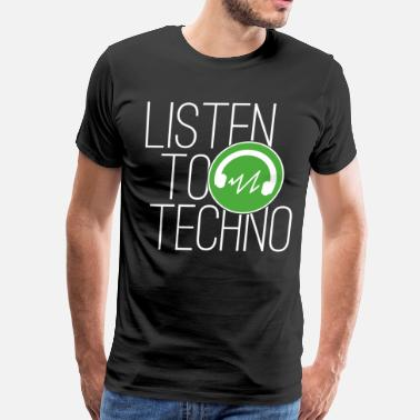 Awesome Detroit Techno Shirt Listen To Techno - Men's Premium T-Shirt