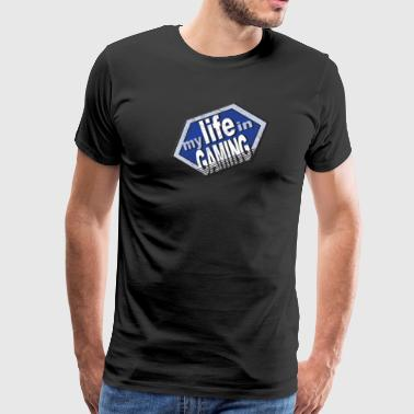 My Life In Gaming sticker - Men's Premium T-Shirt