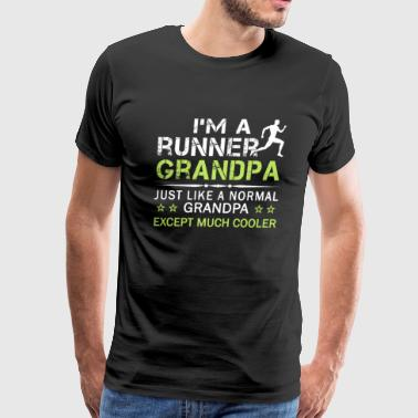 RUNNER GRANDPA - Men's Premium T-Shirt