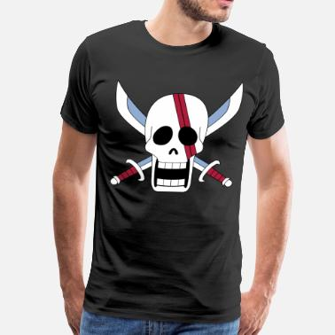 Red Pirate Flag shank - Men's Premium T-Shirt