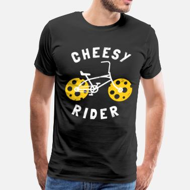 Cheesy Rider Cheesy Gift Funny Bicycle - Men's Premium T-Shirt