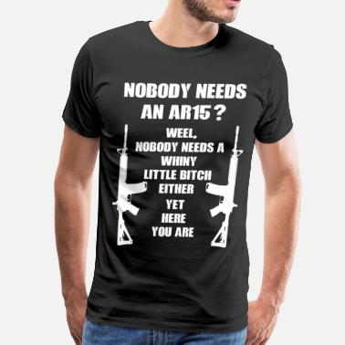 Second Amendment ar-15 - Men's Premium T-Shirt