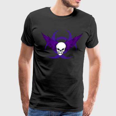 Winged Skull & Biohazard - Men's Premium T-Shirt