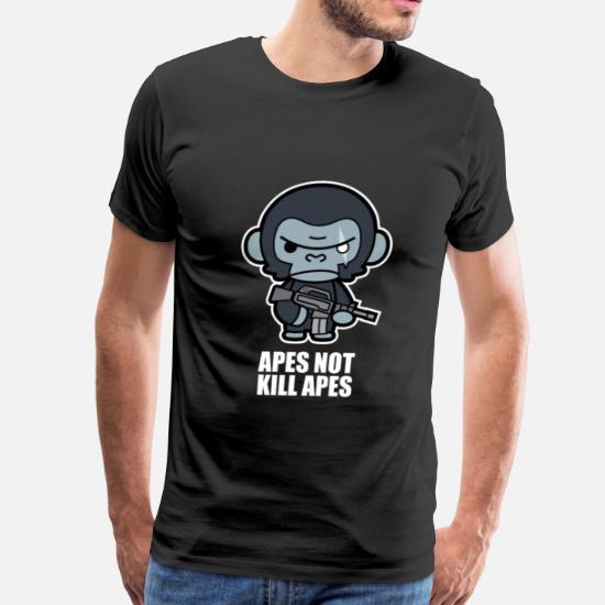 abfaa3cbe2c Apes Not Kill Apes - Koba - Men's Premium T-Shirt. Back. Back. Design. Front