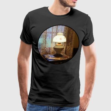 Lamp in Victorian Parlor - Men's Premium T-Shirt