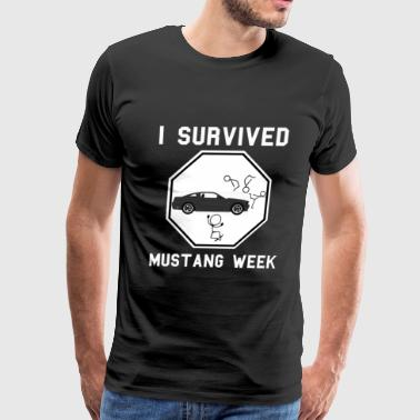 Mustang lover - I survived Mustang week - Men's Premium T-Shirt