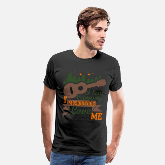 Camping T Shirt T-Shirts - I Love Camping And Mosquitoes Love Me T Shirt - Men's Premium T-Shirt black