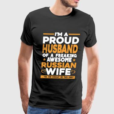 Proud Husband Of Russian Wife - Men's Premium T-Shirt