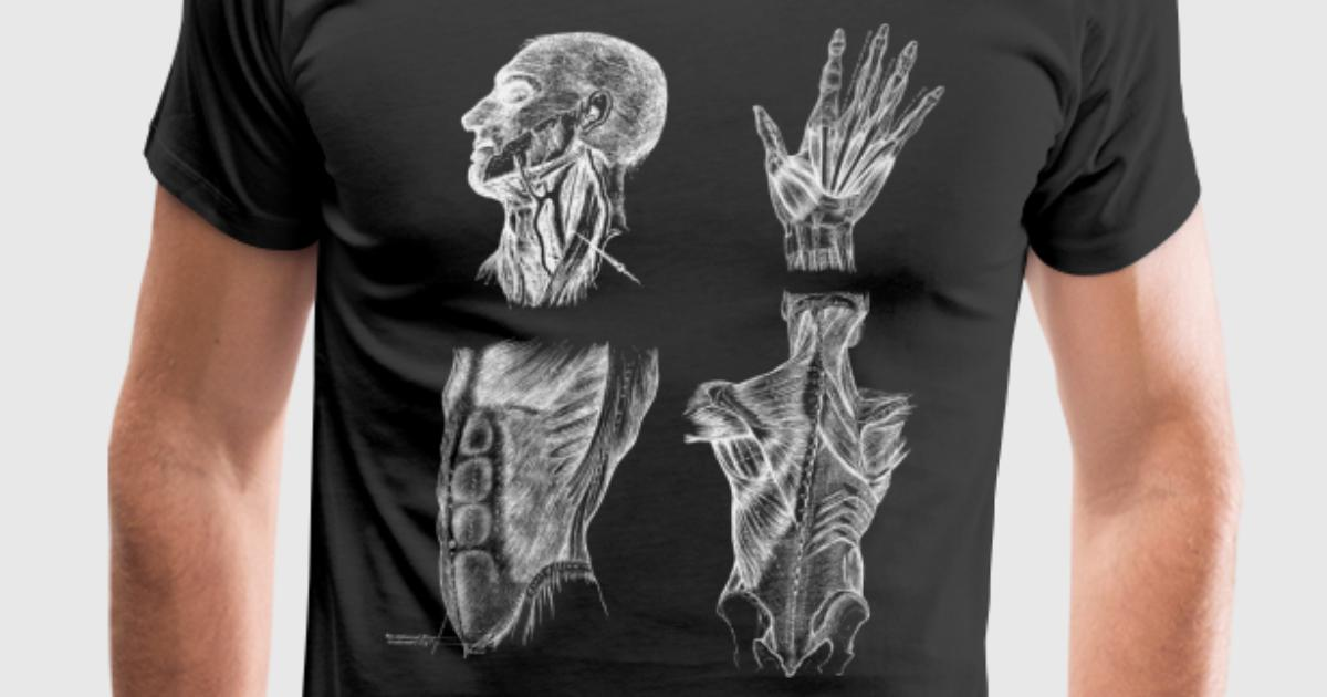 Vintage Human Muscle Anatomy by Sandralily | Spreadshirt