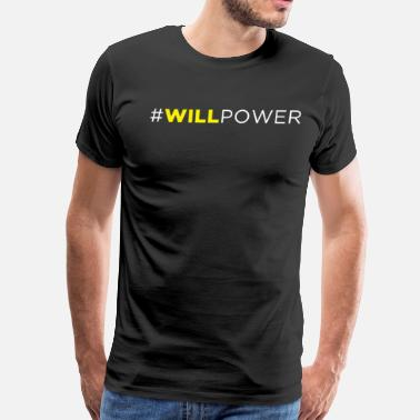 Sarcoma Cancer #WILLPOWER - Men's Premium T-Shirt