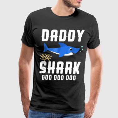 Daddy Daddy shark doo doo doo - Men's Premium T-Shirt
