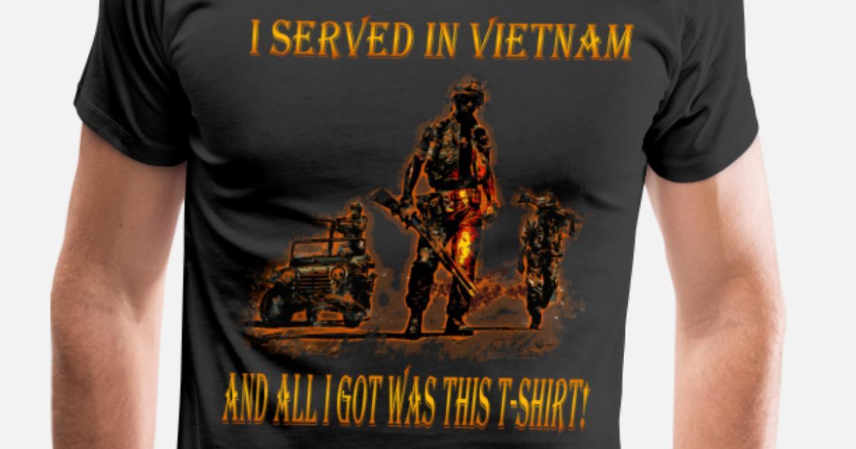 Vietnam Veteran T-shirt - I served in Vietnam Men s Premium T-Shirt ... b836dd7e22ba