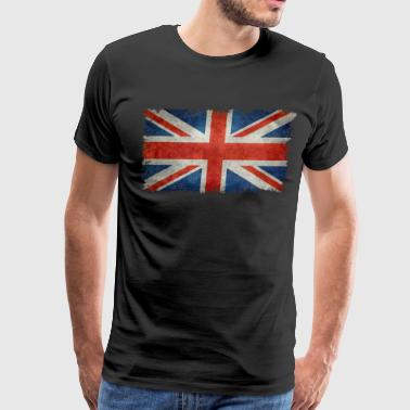 Union Jack flag vintage retro style - Men's Premium T-Shirt