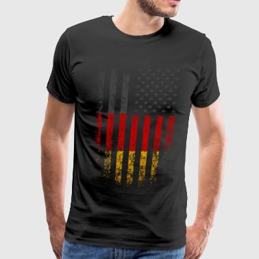 German American Germany USA Flag Grunge - Men's Premium T-Shirt