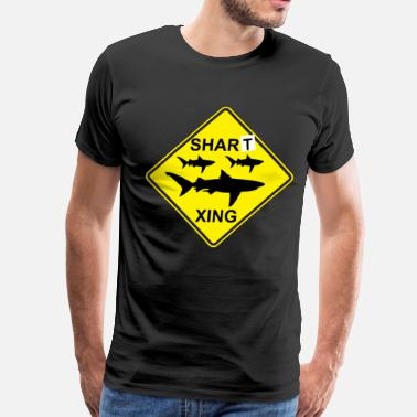 Workaholic Quotes Workaholics - Shart Crossing - Men's Premium T-Shirt