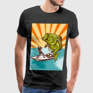Largemouth Largemouth-Bass-Fisherman - Men's Premium T-Shirt