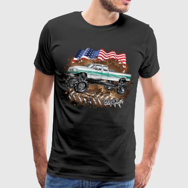Ford Bronco F350 Mega Truck - Men's Premium T-Shirt