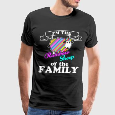 Gay Pride, Rainbow Sheep of the Family - Men's Premium T-Shirt