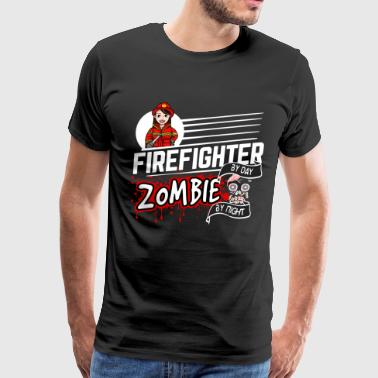 Female Firefighter - Zombie by night - Men's Premium T-Shirt
