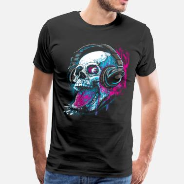 4ba2be7b Skull Skull Givin' Raspberry Dk - Men's Premium T-Shirt