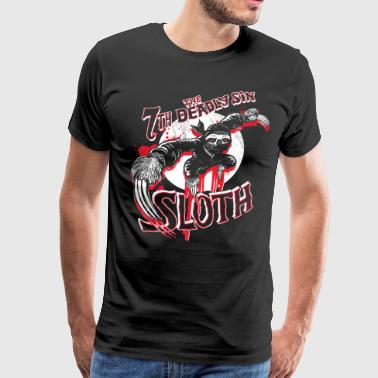 7th Deadliest Ninja Sloth - Men's Premium T-Shirt