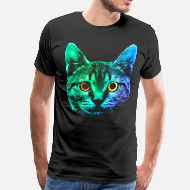 Big Cat Big Cat Face - Men's Premium T-Shirt