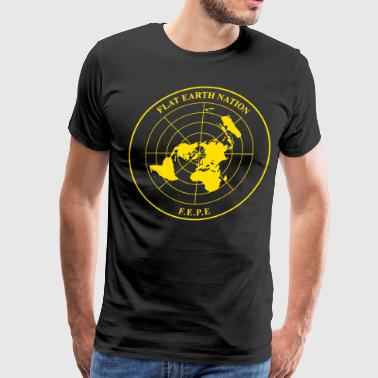 The Flat Earth Nation Emblem (allegedly) - Men's Premium T-Shirt