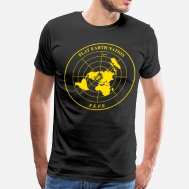 Geocentric The Flat Earth Nation Emblem (allegedly) - Men's Premium T-Shirt