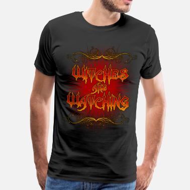 Witches Broom Witches Are Watching - Men's Premium T-Shirt