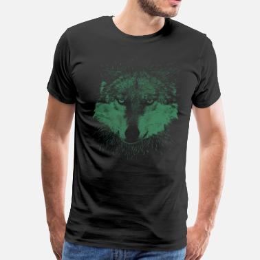 Wolf Head Animal - Men's Premium T-Shirt