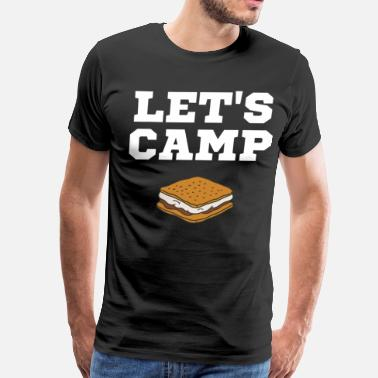 Marshmallow Let's Camp S'mores Chocolate Marshmallow Cracker  - Men's Premium T-Shirt